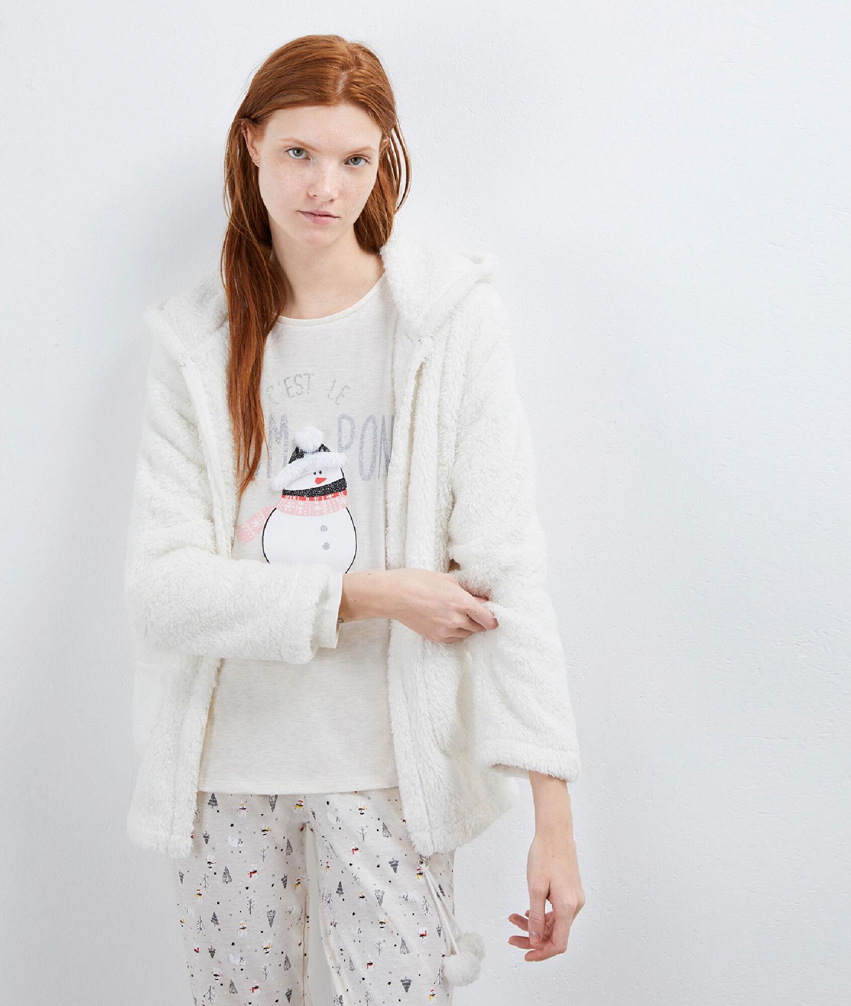 Three Piece Pyjama With Snowman Print Etam