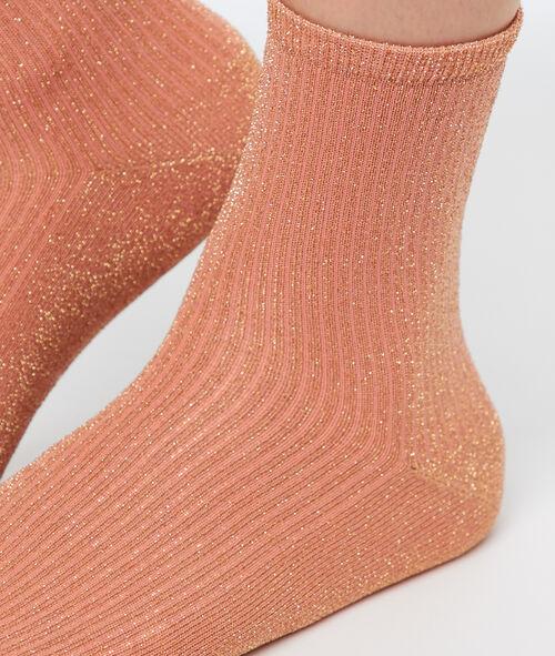 Calcetines tobilleros brillos metalizados