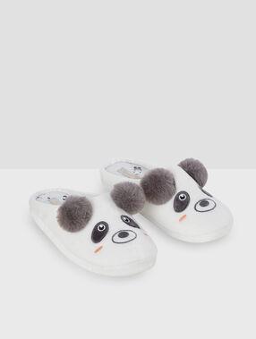 Zapatillas destalonadas panda crudo.