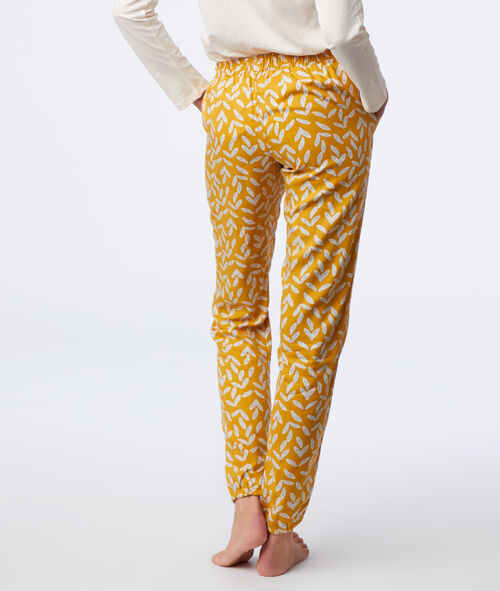 Leaves print trousers