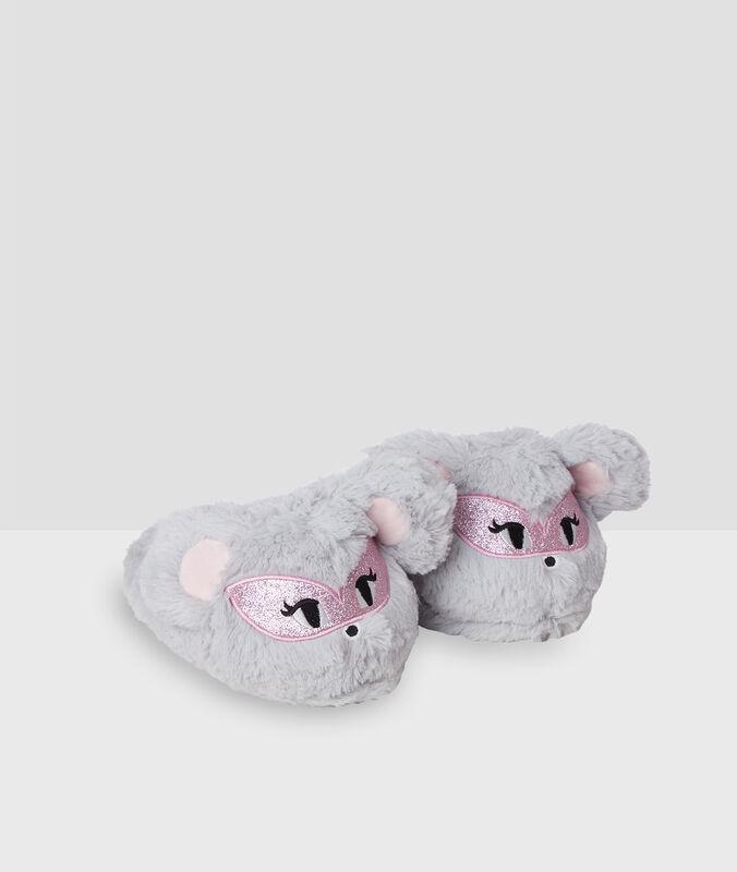 Mules 3d souris gris.