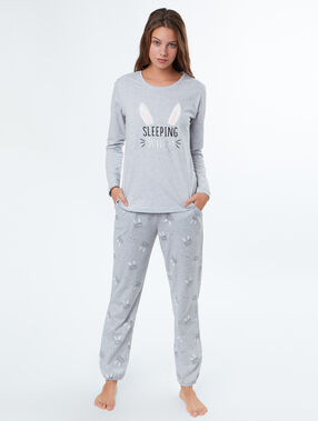 Three-piece pyjama set ecru.