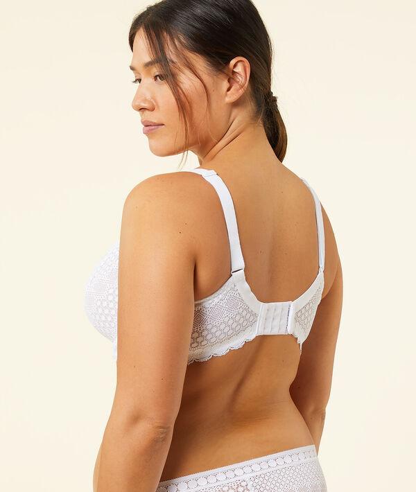CHERIE CHERIE Effect lace basket bra -1 size;${refinementColor}
