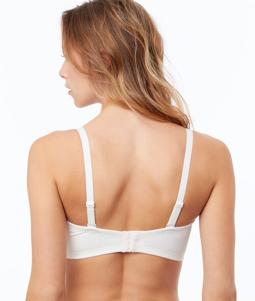 Lace and micro bandeau bra
