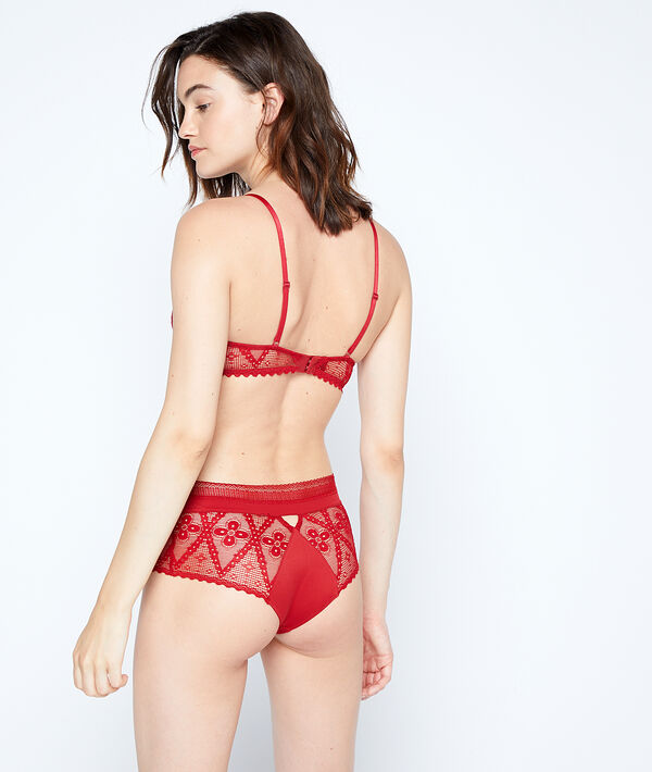 Lace high waist knickers;${refinementColor}