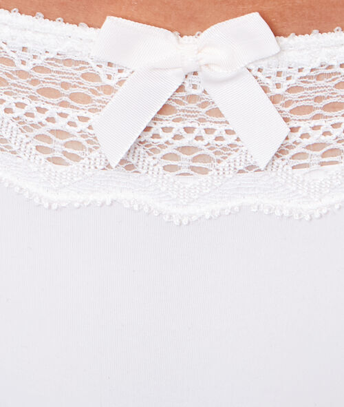Lace and micro shorts