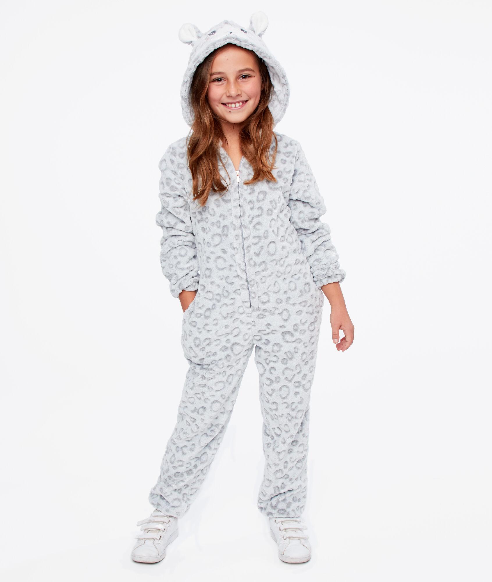 Combinaison Pyjama Panthere Enfant Maline Gris Etam