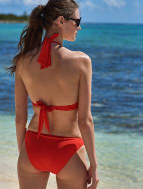 Bikini bottom, eyelet detailing red.