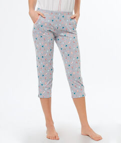 Printed pyjamapants white.