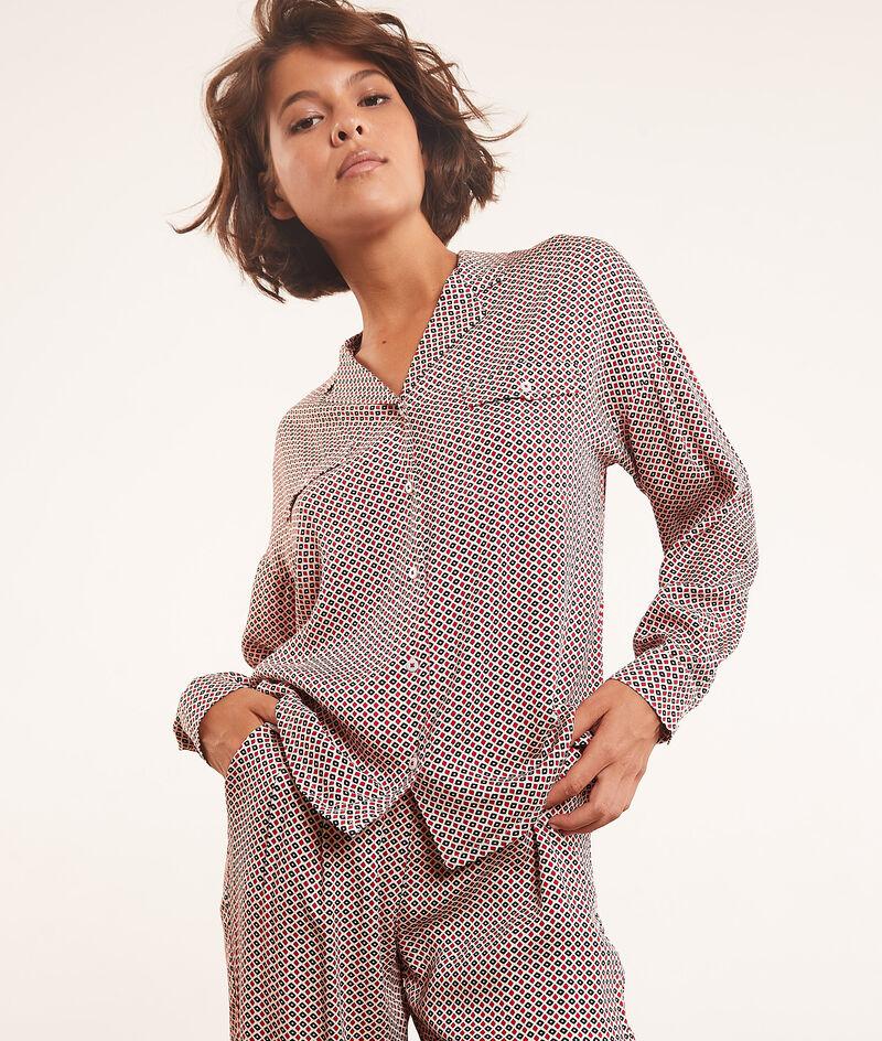 Printed pyjama shirt ;${refinementColor}
