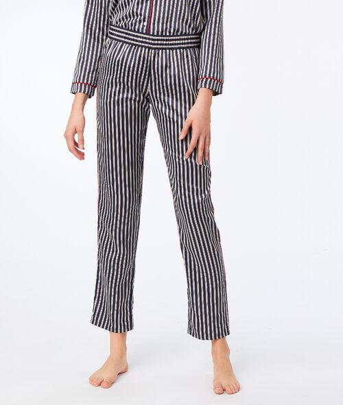 Stripe satin trousers