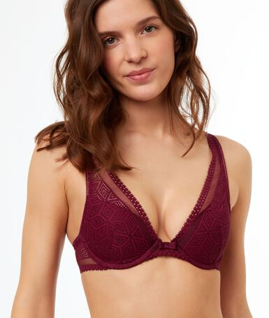 Light padded triangle bra purple.