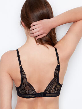 Triangle bra black.