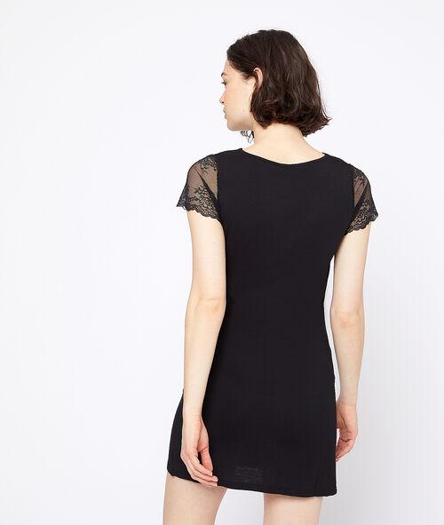 Lace neck chemise