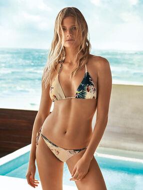 Knotted bikini multi-color.