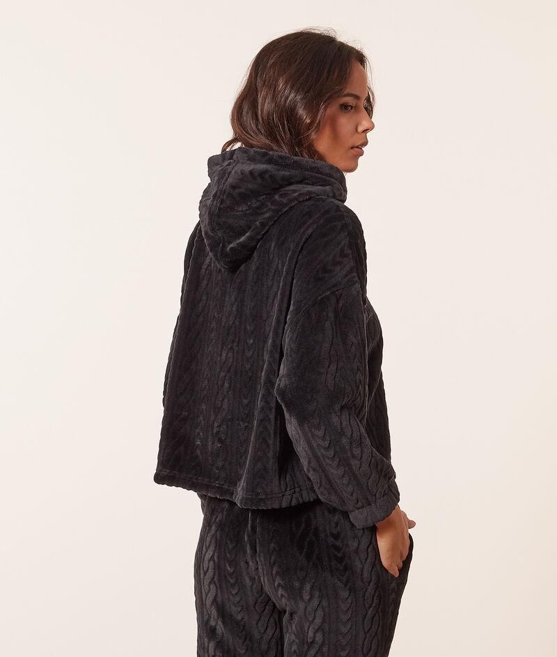 Fleece hoodie ;${refinementColor}