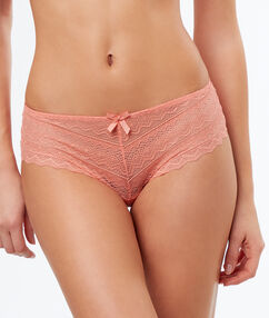 Lace shorts peach.