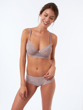 Soutien-gorge corbeille taupe.