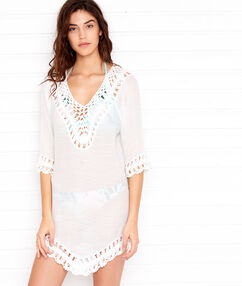 Beach dress off-white.