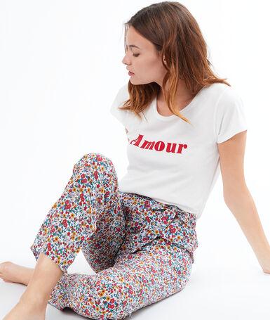 Printed trouser ecru.