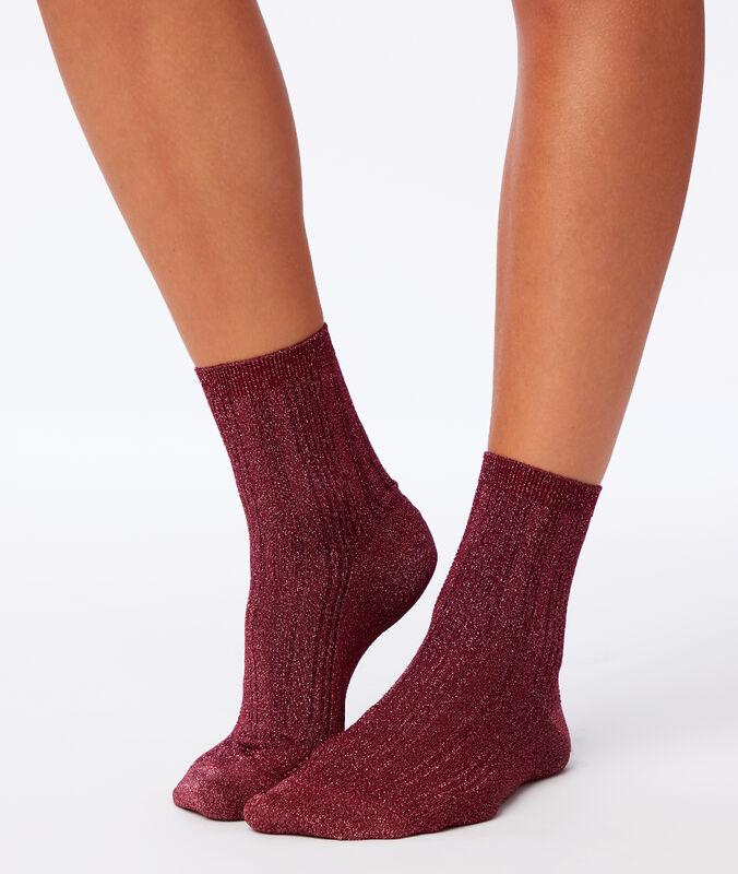 Chaussettes fibres métallisées grenadine.