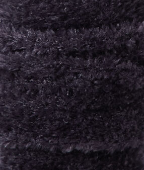 Calcetine tejido peluche fibras metalizadas antracita.