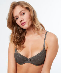 Bra no. 4 - lightly padded bra khaki.