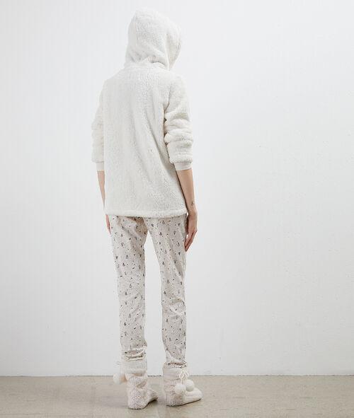 Three piece pyjama with snowman print