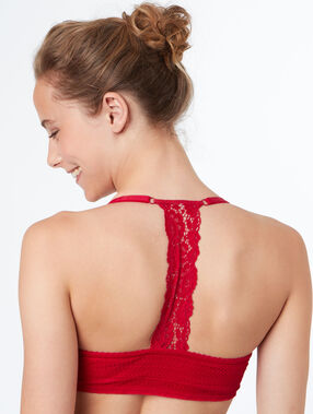 Bra no. 5 - classic padding, racer back red.
