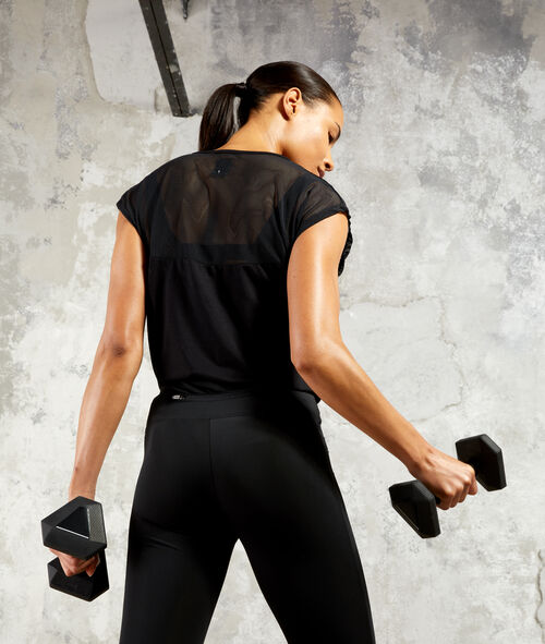 T-shirt de training, bi-matière