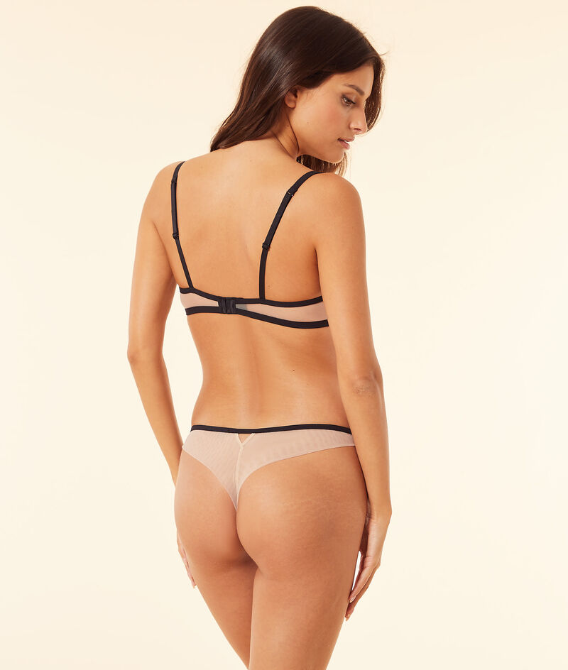 Embroidered tulle tanga;${refinementColor}