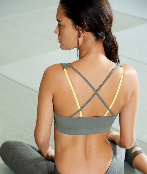 Sports bra, removable pads & crossed back - Medium support