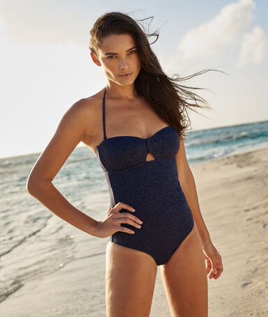 One piece swimsuit navy/iridescent.