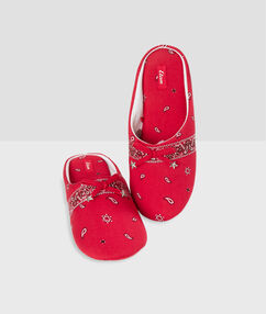Slippers red.