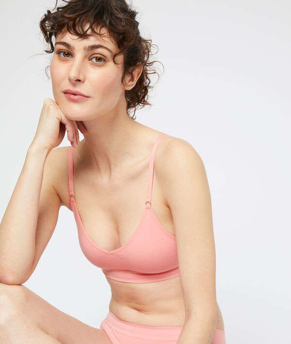 Seamless bra, removable pads;${refinementColor}