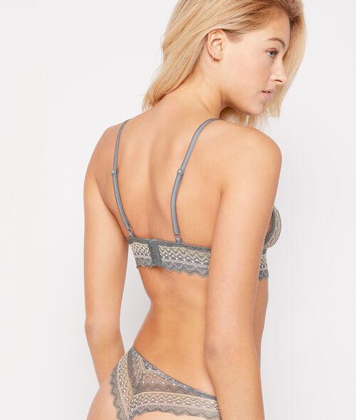 Non-wired lace triangle bra