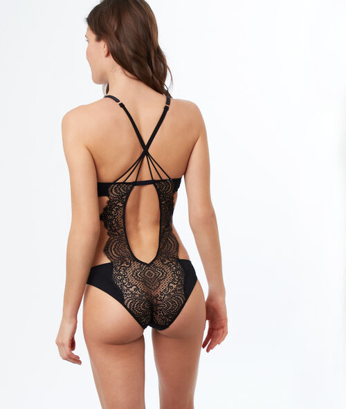Indented lace bodysuit