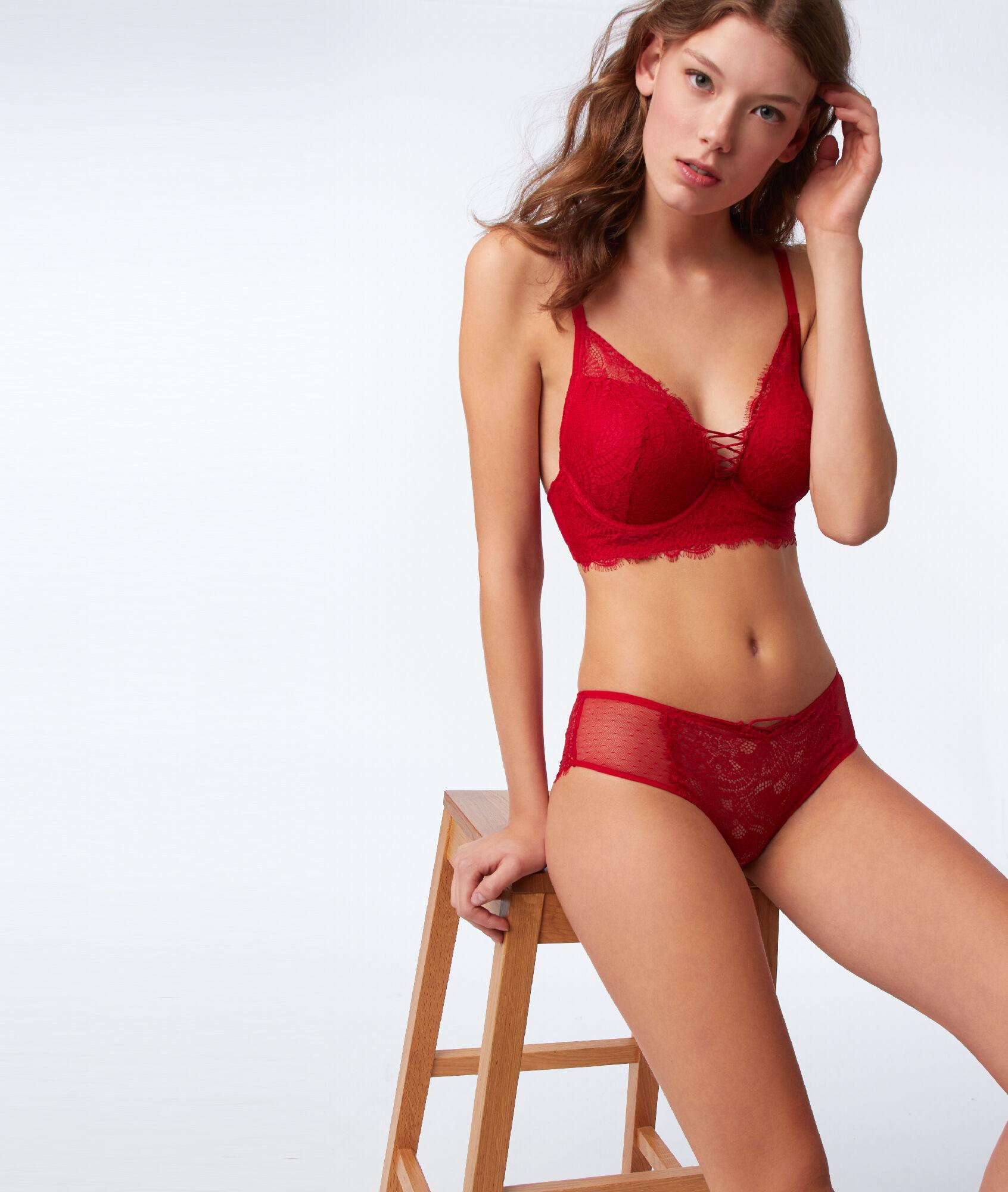 4853e3777e1 Bra no. 5 - Lace padded bra with ties - Etam