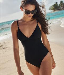 One piece swimsuit black.