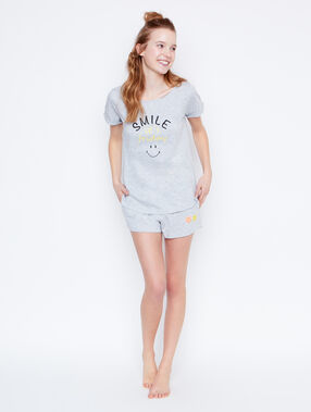 Smiley printed top grey.