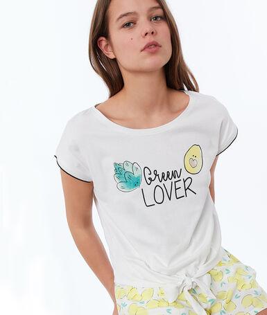 Printed t-shirt white.