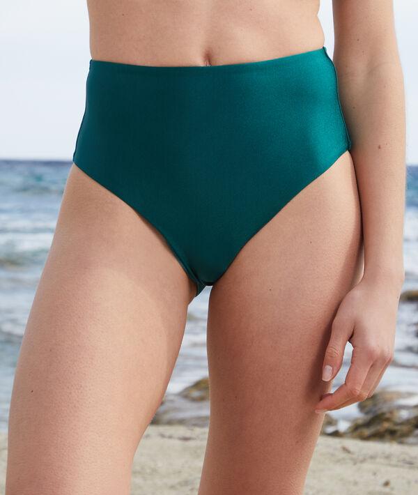 High waist bikini bottoms;${refinementColor}