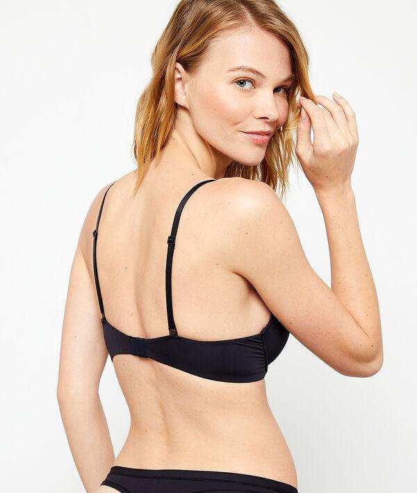 Microfiber plunge push-up bra;${refinementColor}