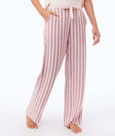 Rozšířené kalhoty růžová.