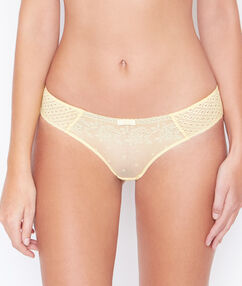 Lace hipster yellow.