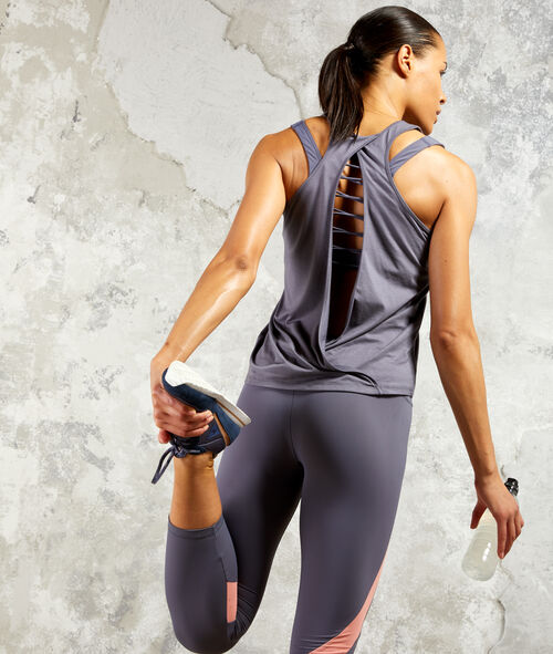 Workout vest, open back
