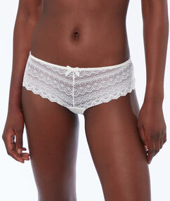 Lace shorts white.