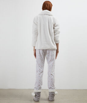 Three-piece pyjama set ecru.