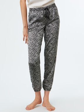 Printed trousers black.