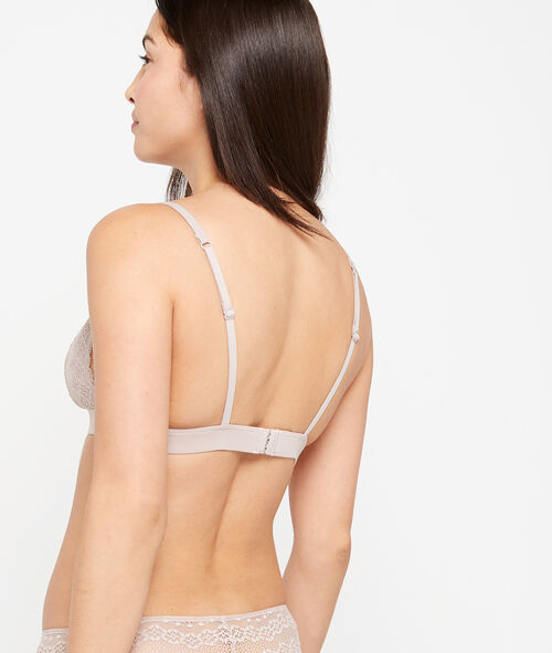 Non-wired lace triangle bra